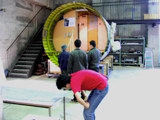 YS-11胴体部展示