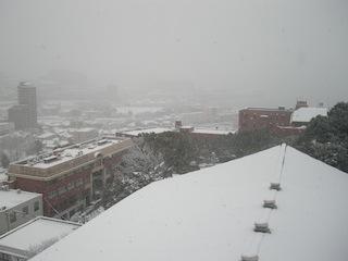 長崎総合科学大学周辺の大雪1