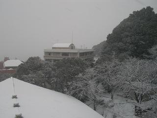 長崎総合科学大学周辺の大雪2